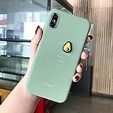 JIAHUI Funda De Teléfono con Patrón De Aguacate De Fruta 3D para iPhone XR XS MAX X 11 8 7 6 6S Plus Lovely Cubierta Trasera Bonita De Protección De Silicona Suave (Aguacate,For iPhone 8)
