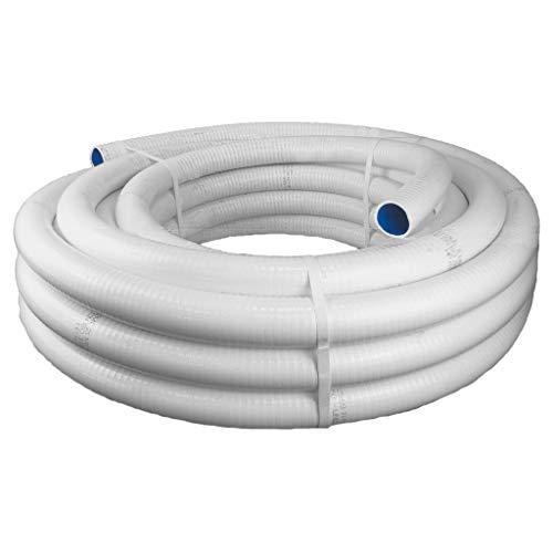 well2wellness® PVC Klebeschlauch/PVC Flexschlauch Anti-Chlor - 25m - 50 mm Außendurchmesser