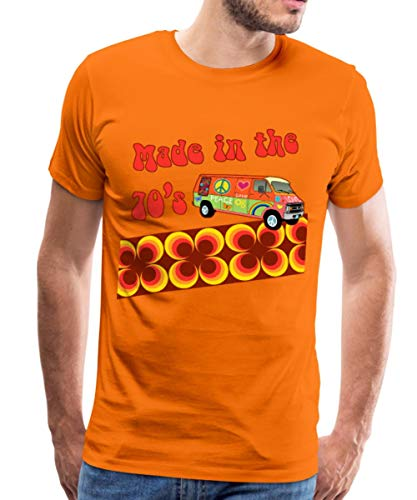 Made in The 70's Retro Siebziger Männer Premium T-Shirt, L, Orange