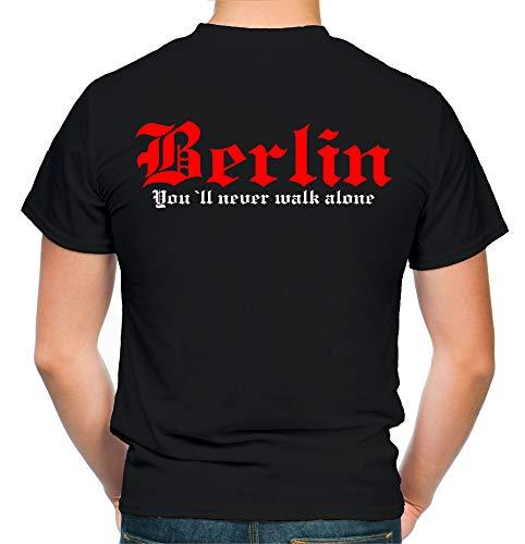 Berlin Kranz T-Shirt | Liga | Trikot | Fanshirt | Bundes | M2-rot (XL)