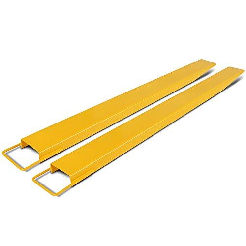 Happybuy 153 X 16 CM(60 X 6 Inch) Gabelverlängerung für Stapler stabil hochwertig Gabelstapler Verlängerungen Hochfester Stahl Paletten Gabel Verlängerungen für Gabelstapler (153CM)