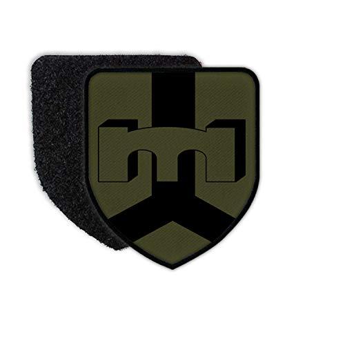 Copytec Patch PiBtl2 Bundeswehr Deutschland Wappen Einheit Emblem Klett 7,5x6,5cm#36670