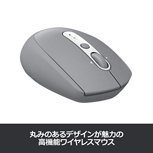 ロジクールワイヤレスマウス無線マウスBluetoothUnifying7ボタンM585MGミッドグレイコントラストwindowsmacChromeAndroidiPadOS対応M585国内正規品2年間無償保証