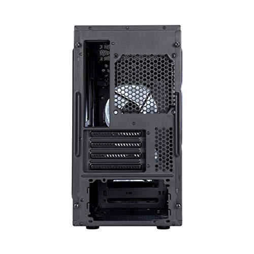 Fractal Design Focus Mini G - Mini Tower Custodia computer - mATX - Ottimizzato per flusso d'aria elevato e elaborazione silenziosa - USB 3.0. - pannello laterale a finestra - Nero