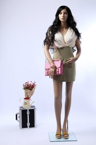 Tonhan SF-24 Schaufensterpuppe weiblich mit 2 Perücken gratis. große Brüste. Frau in Hautfarbe
