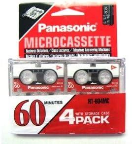 Panasonic Microcassette MC-60 4/pack