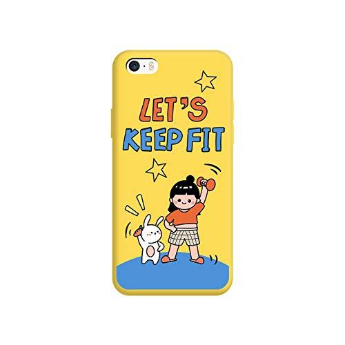 Para iPhone 5/5s/se Caso Lindo De dibujos animados Anime Patrón De Teléfono Caso Popular De Silicona De Color Suave Cubierta De L205-Para iPhone se