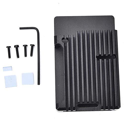 Nikou Caja Protectora de aleación de Aluminio - Estructura Abierta para Raspberry Pi 4B Caja Protectora de aleación de Aluminio Negra Caja de Caja(Aluminum Box)