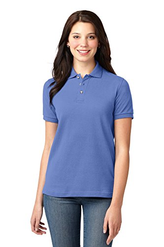 Port Authority - Ladies Pique Knit Polo Shirt. L420 - Blueberry - X-Small