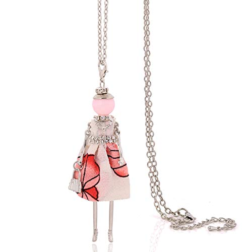 N / A Necklace pendant women necklace lovely stylish cloth long chain pendants doll necklace big choker women jewelry christmas Halloween Christmas Birthday Party Gift