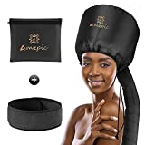 Bonnet Hood Hair Dryer Attachment - Soft, Adjustable Extra Large Bonnet Hair Dryer for Speeds Up Drying Time at Home, Easy to Use for Styling, Curling and Deep Conditioning (Black)