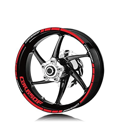 Etiquetas engomadas Impermeables del Logotipo de la Rueda Impermeable del neumático de la Motocicleta para Honda CBR650F CBR 650F (Color : XT LQ CBR650F Red)