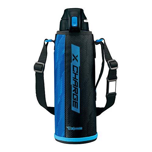 象印 (ZOJIRUSHI) 水筒 直飲み スポーツタイプ ステンレスクールボトル 1.5L ブルーストライプ SD-FB15-AJ