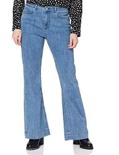 Marchio Amazon - find. - High Rise_amz090103, Flared Jeans Donna, Blau (Mid Blue), 30W / 32L, Label: 30W / 32L