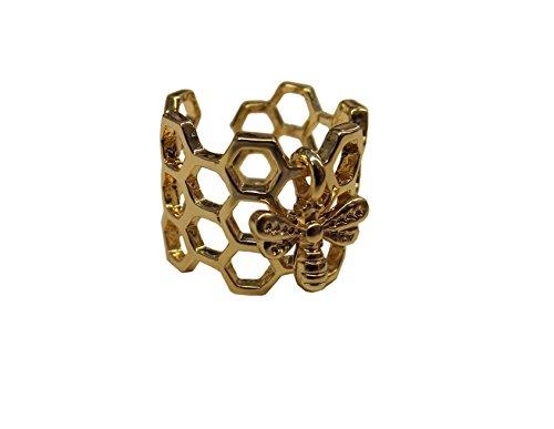 Unbekannt Ring mit Bienenwaben und Bienen-Anhänger, Hingucker :