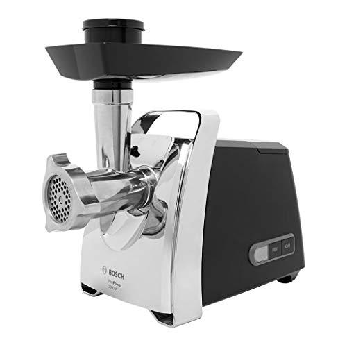 Bosch ProPower MFW67440 - Picadora de carne, 700 W, color plateado y negro