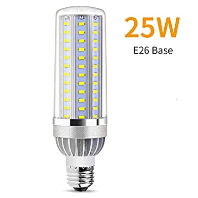 Lumiereholic 25W Super Bright Corn LED Light Bulbs (250W Equivalent) - Base 2900Lumens(116lm/w) 6500K Daylight Cool White for Large Area Lighting - Home Porch Garage Warehouse Post Lamp Street Lights