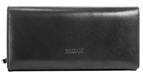 Bagan Geldbörse Echt Leder schwarz Damen - 018957