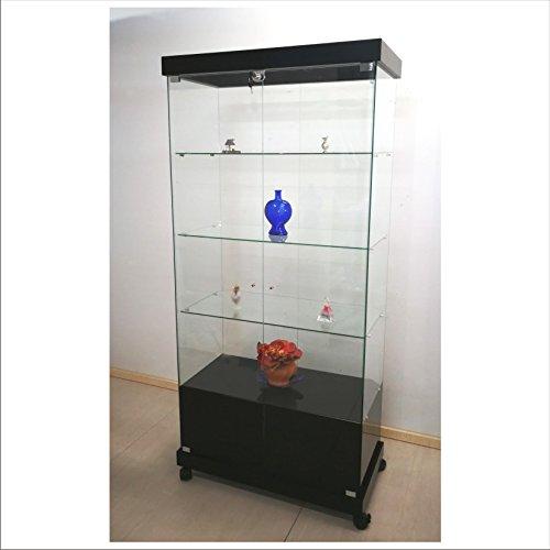 VM ART DESIGN GLASS Vitrine pour Les salles d'exposition VM2003RTMBCC (Noir)
