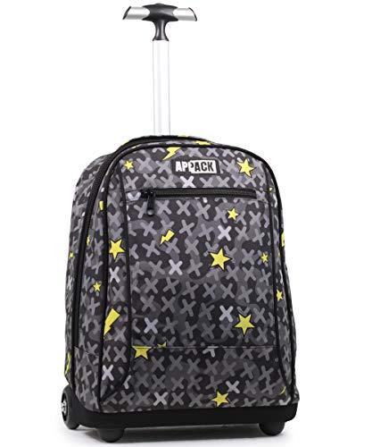 Big Trolley Appack, Webkins, Nero, 2 in 1 Spallacci per uso Zaino, Scuola & Viaggio