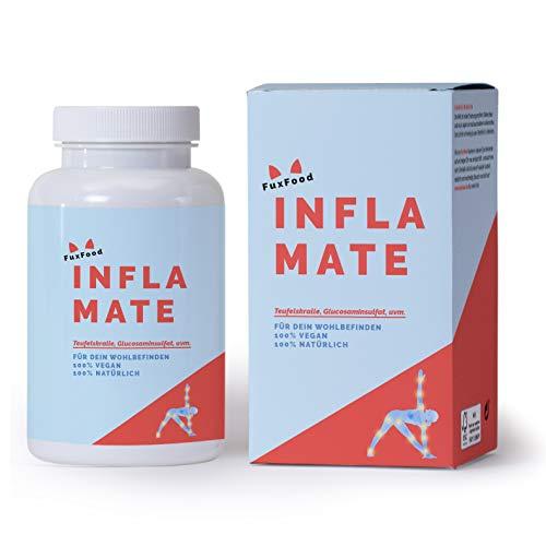 INFLAMATE | Das Kombi-Präparat mit 10 natürlichen Zutaten wie Glucosaminsulfat, Teufelskralle, Brennnessel, usw. | Nachhaltig aus Deutschland | 30 Tage Zündex Paket | Forte, Stark dosierter Complex