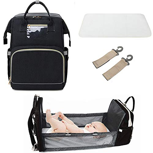 3 in 1 Travel Bassinet Foldable Baby Bed, Portable...
