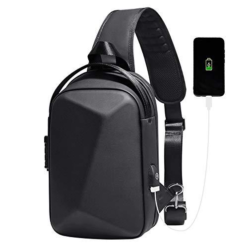 Borsa a tracolla antifurto, borsa a tracolla impermeabile, zaino da viaggio casual con porta di ricarica USB