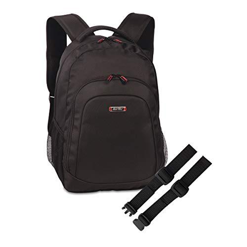 Set BestWay Rucksack Laptoprucksack Schulrucksack schwarz Daypack + Brustgurt GURTIES