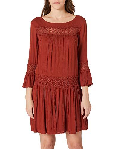 Only ONLTYRA 3/4 Life Short Dress WVN Noos Casual, Burnt Henna, 36 para Mujer