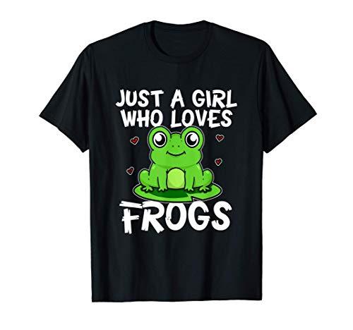 Just A Girl Who Loves Frogs Divertido Disfraz De Rana Camiseta