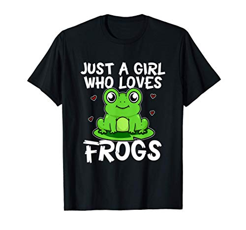 Just A Girl Who Loves Frogs Divertido Disfraz De Rana Camiseta