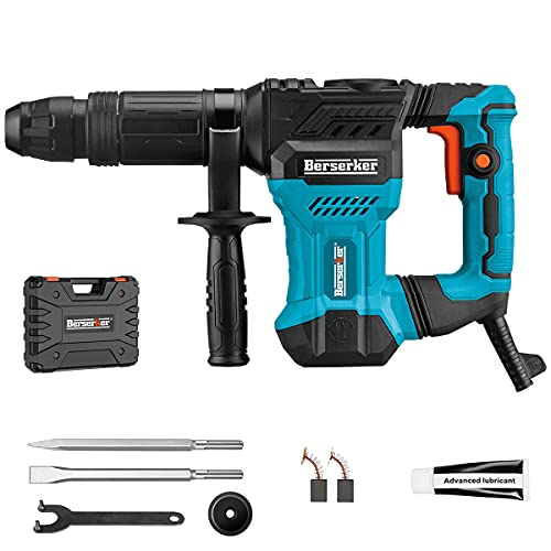 Berserker Demolition Hammer Drill 1-1/4 Inch SDS-Max 12 Amp Vibration Control Strong power 4100 BPM 18 Joules Impact Energy