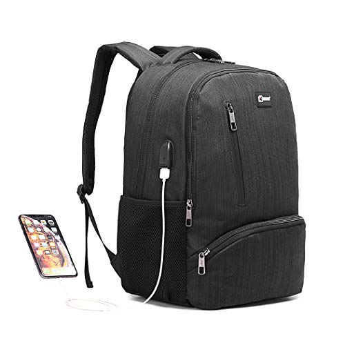 Kono Travel Laptop Backpack with USB Charging Port School Water Resistant Computer Bag...