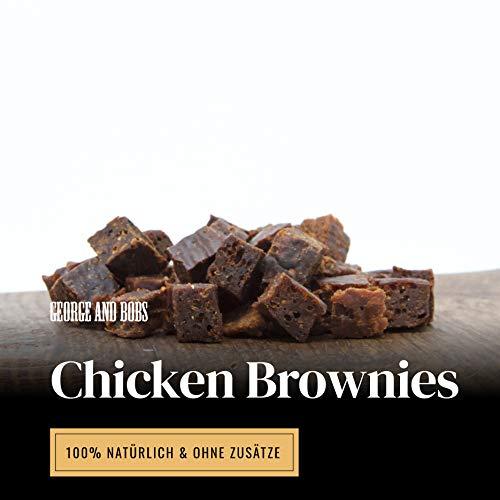 George & Bobs Chicken Brownies - 1000g | Trainingssnack aus Huhn mit Quinoa | Lecker mit Superfoods | 100{a2a696c495ec1f4bbef0cca94c8dad8b51a005c1bd1a08419784dbcd3977036c} Natürlich