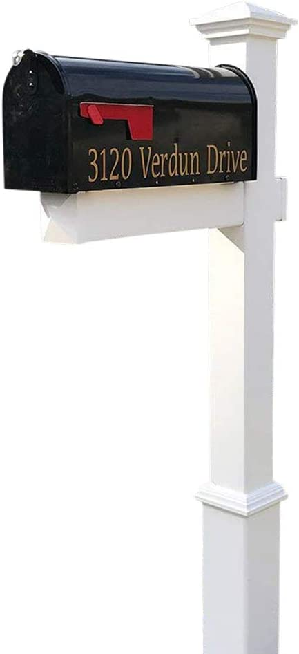 4Ever Products Luxury goods Las Vegas Mall The Homestead Vinyl Post Ma Includes PVC Mailbox