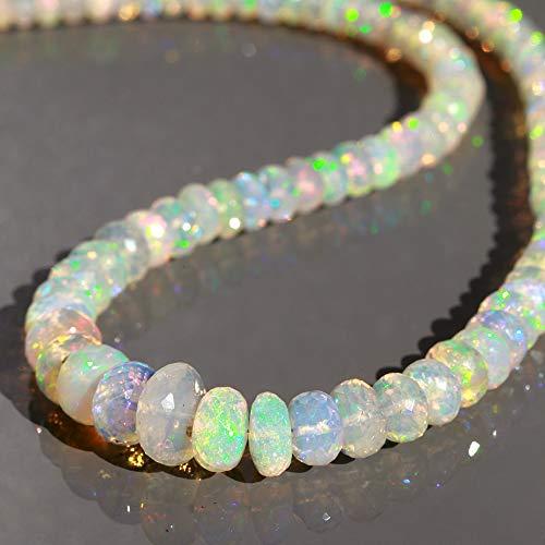 Sparkling äthiopischer Opal Perlenkette AAA Welo Opal Rondelle Halskette Oktober Geburtsstein echter äthiopischer Opal Choker Geschenk für Sie