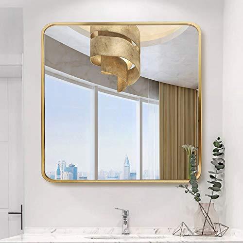 Bathroom mirror Espejo de Pared Cuadrado, Espejo de baño Moderno con Marco...