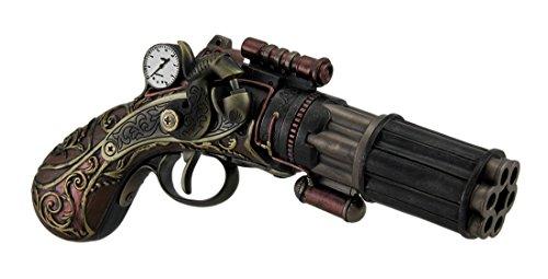Price comparison product image Veronese Design 6 Barrel Decorative Steampunk Pistol Statue