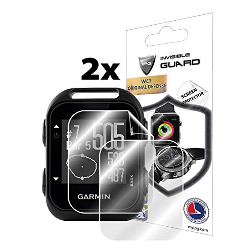 IPG for Garmin Approach G10 Handheld Golf GPS Screen Protector (2 Units) Invisible Ultra HD Clear Film Anti Scratch Skin Guard - Smooth/Self-Healing/Bubble -Free by