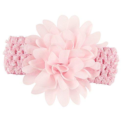 SAMGU Lovely Girl Enfants Bébé Tout Fleur Dentelle Bandeau Cheveux Band Accessoires Chapeaux (Rose)