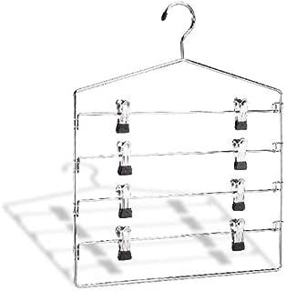 Organize It All Chrome 4 Tier Swing Arm Slack Closet Hanger