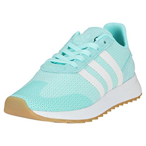 adidas Damen FLB Runner Sneaker, Grün (Mint/Weiß Mint/Weiß), 40 EU