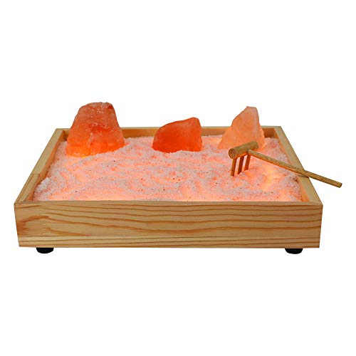 WBM Himalayan Glow Tabletop Zen Garden Himalayan Pink Salt, Best Home Decor Gift (2-3 lbs) by WBM, Crystal