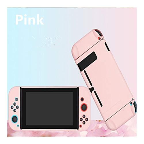FKYNB for Nintendo NS Commutateur Joy-Con Case Couverture PC de Protection Externe Shell Nintendo Coque Console Switch Amovible Ultra Mince Pur Colo (Color : Pink)