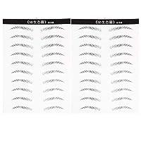 PIXNOR 20ペア眉タトゥーステッカースティック眉に現実的な探している自然な眉毛のような女性のためのメイクアップ眉毛ステッカー(標準的な眉毛)