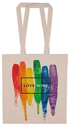Metera Acuarela LGBT Amor Victorias Arco Iris Pintar Tipográfico Bolsa De la Compra Reutilizable Reusable Shopping Bag