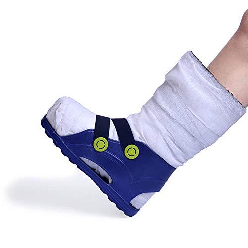 AQzxdc Bota de Yeso con Punta Abierta con Correa Ajustable para Hombres y Mujeres, Calzado para Caminar después de la cirugía/Yeso para recuperación de fracturas, protección,L