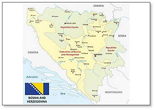 Kühlschrankmagnet mit Flagge von Bosnien & Herzegowina
