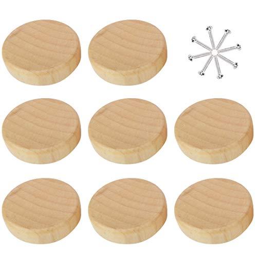 K9CK Schrankknöpfe Vintage, 8 Stück Knauf für Schrank Türknauf Vintage Holzkugelknöpfe Möbelknöpfe Kinder