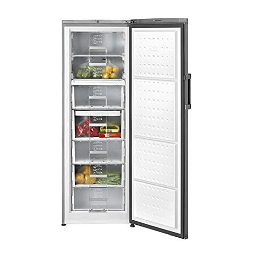 Teka | Congelador libre instalación | Full No Frost | Modelo TGF3 270 X | 1 puerta y 7 compartimentos | Acero Inox | Eficiencia enregética F | 1714 x 59.5 x 65.5 cm